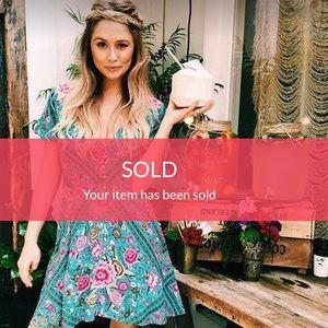 SOLD 🔴 Spell Babushka Mini Turquoise Dress